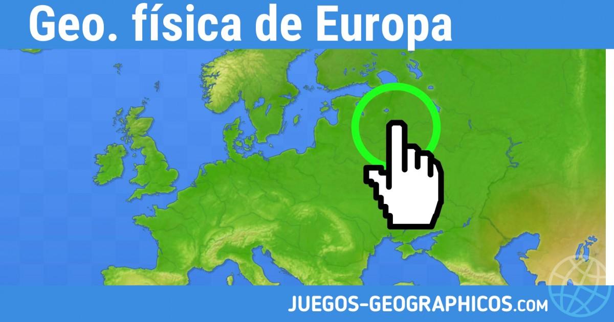 Mapa De Europa Juegos.Juegos Geograficos Juegos De Geografia Geo Fisica De Europa