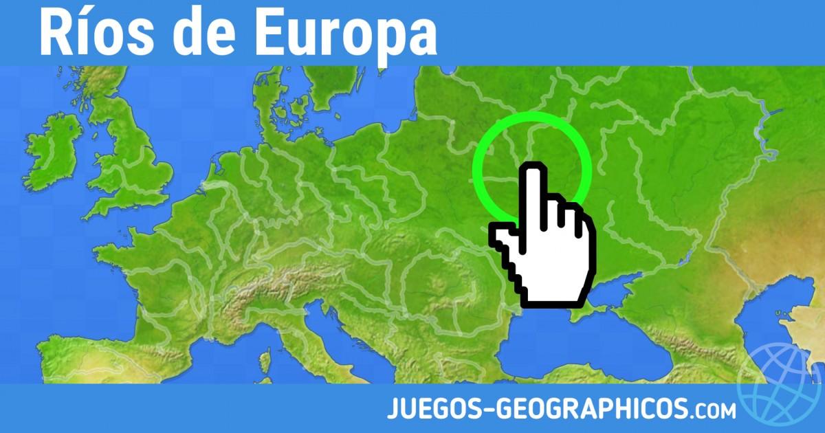 Mapa Interactivo Rios Europa.Juegos Geograficos Juegos De Geografia Rios De Europa