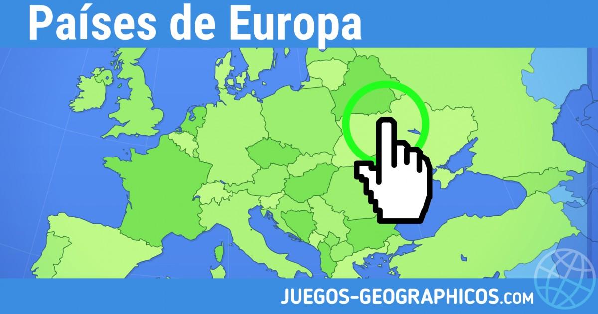 Paisos D Europa Mapa Interactiu.Juegos Geograficos Juegos De Geografia Paises De Europa