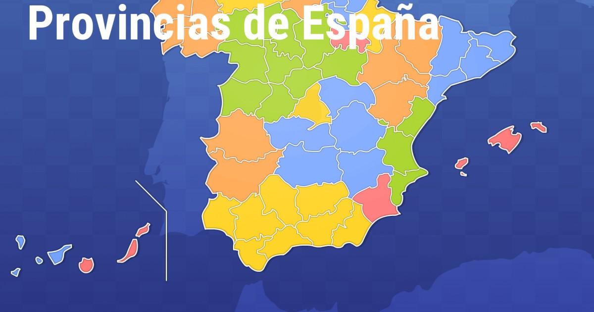 Mapa Provincias España Interactivo.Juegos Geograficos Juegos De Geografia Provincias De Espana